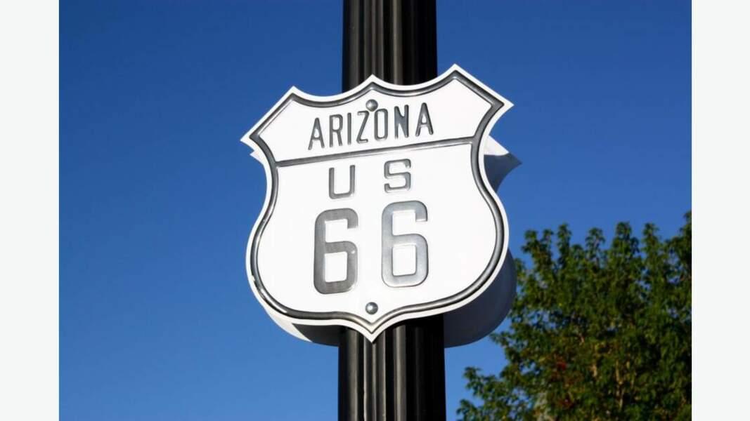 Panneau de la célèbre Route 66