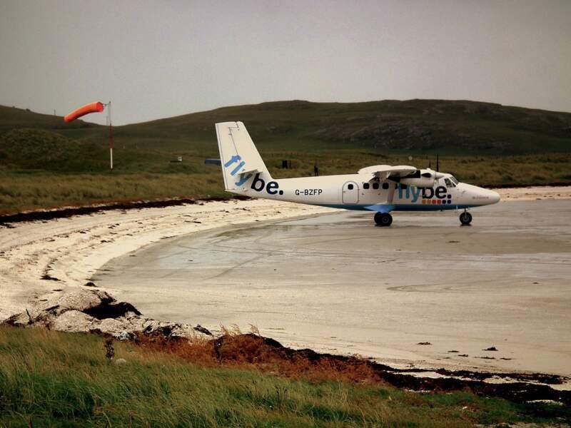 Barra, atterrissage à marée basse