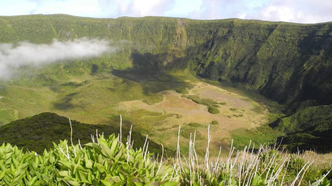 Le volcan Caldeira, sur l'île de Faial