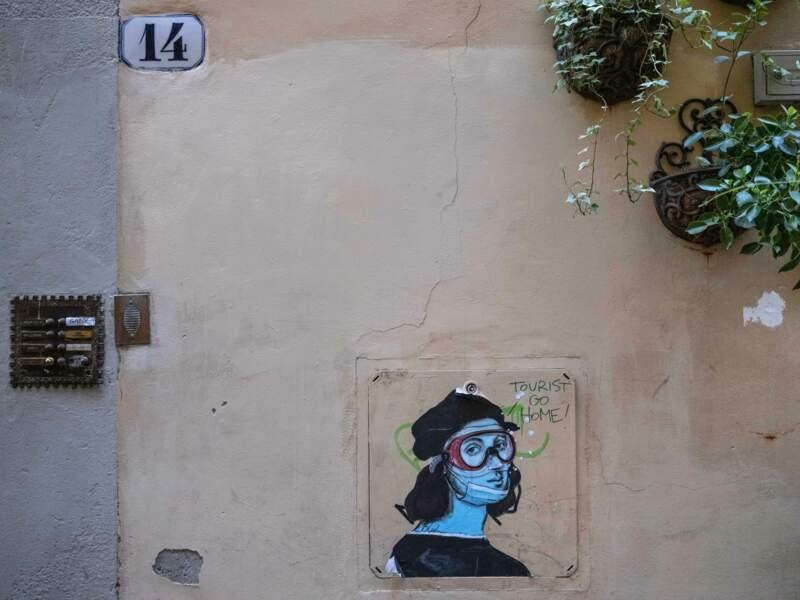 """Une œuvre signée Blub, l'un des artistes de rue """"nouvelle génération"""" de Florence"""
