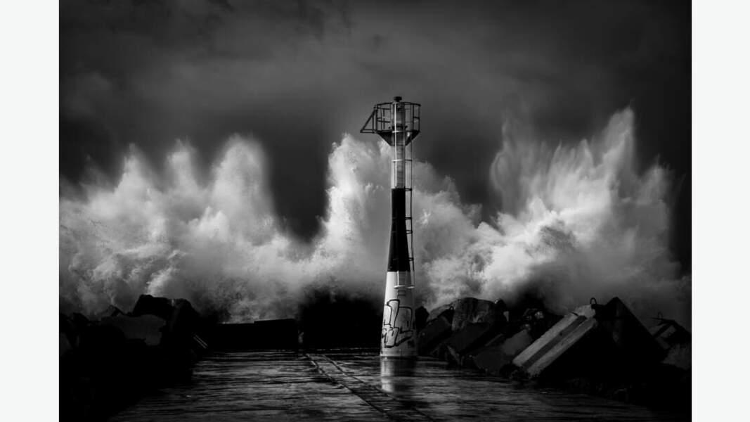 Tempête sur la côte basque
