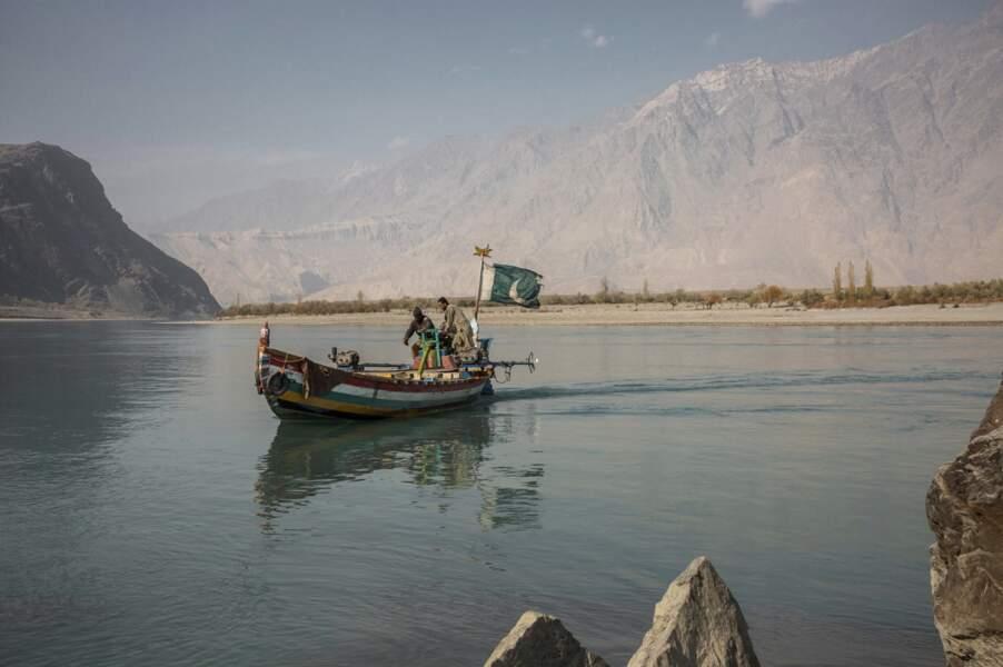 Les flots paisibles de l'Indus