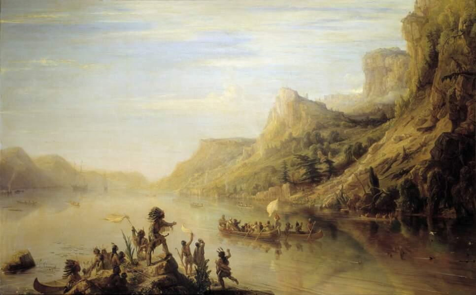 Jacques Cartier découvre et remonte le fleuve Saint-Laurent