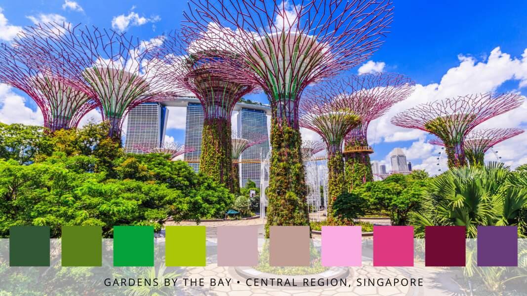 Les jardins de la baie à Singapour