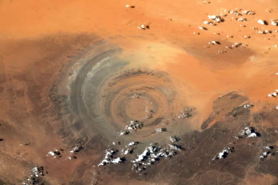 La structure de Richat dans le Sahara mauritanien