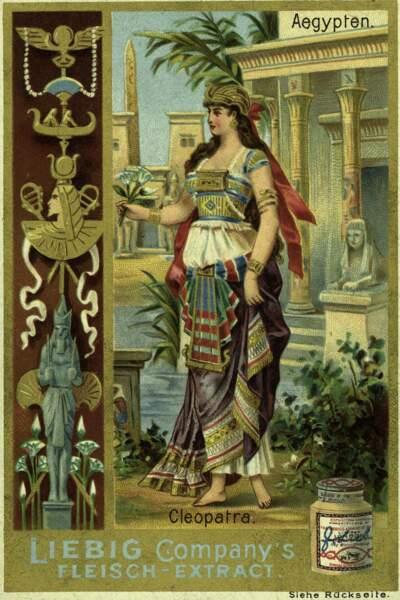 Dans la publicité, l'image de Cléopâtre se prête à toutes les convoitises