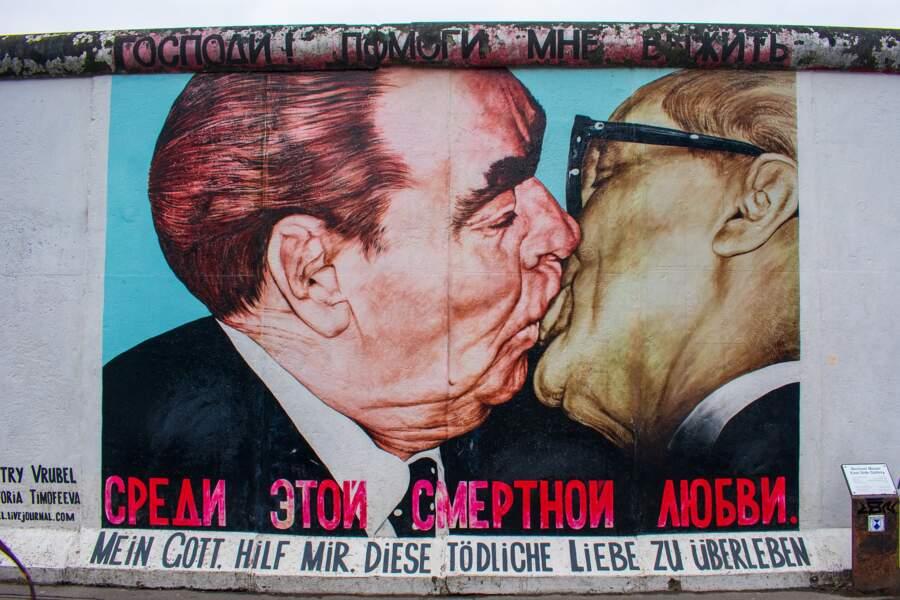 Le Baiser de l'amitié de l'East Side Gallery à Berlin