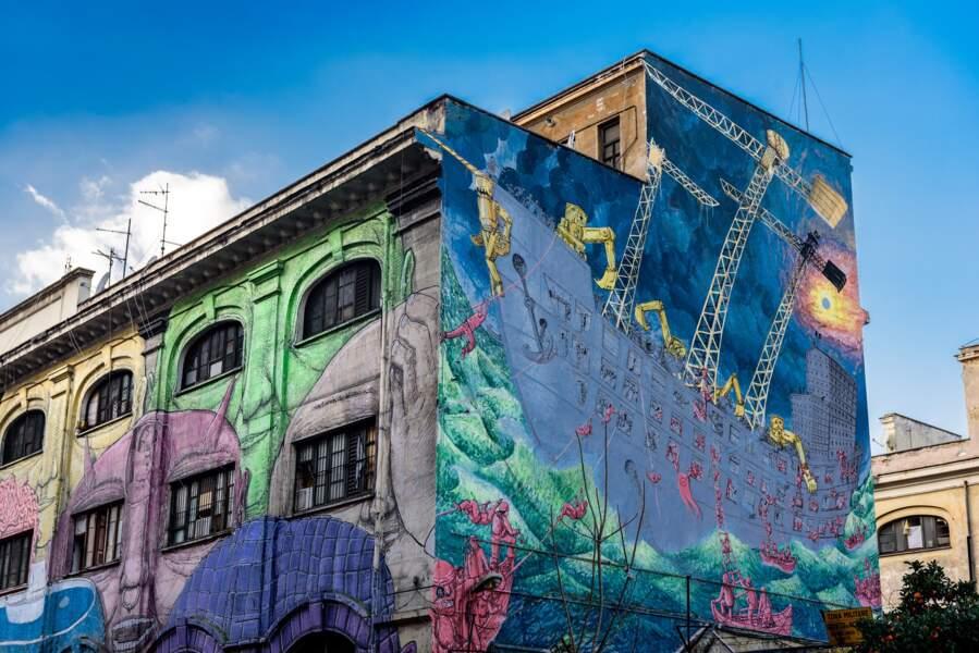Les graffitis de Blu à Rome