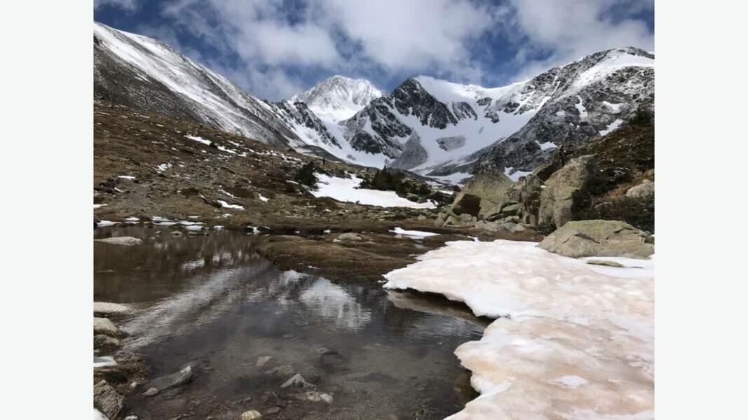 Neiges de printemps sur le pic Carlit