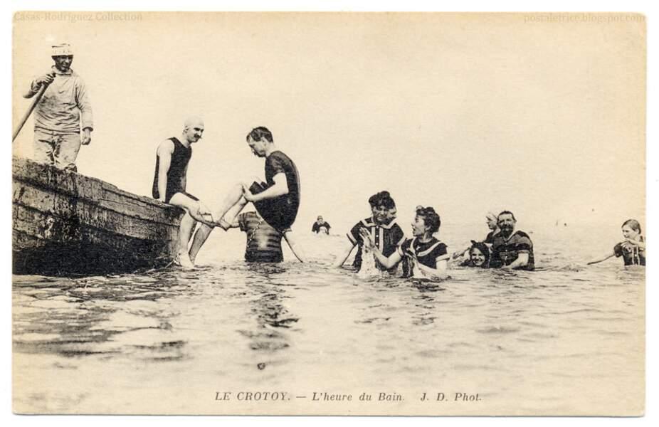 En baie de Somme, Le Crotoy, vers 1913
