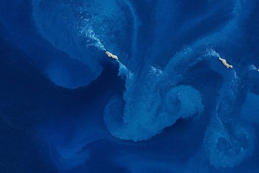 Bloom de phytoplancton dans les îles Jason