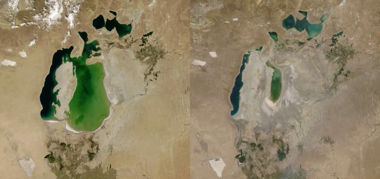 La Mer d'Aral entre 2000 et 2018