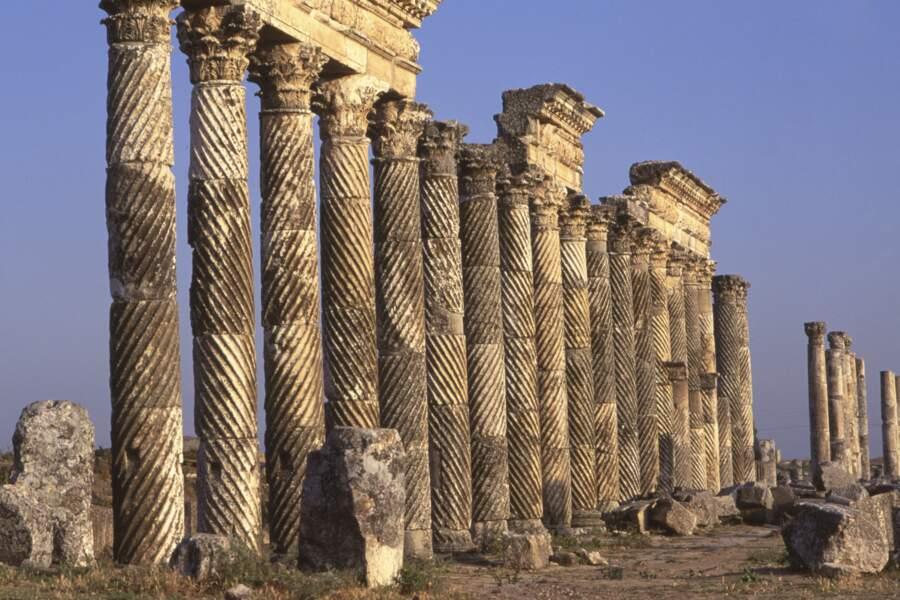 Le site romain d'Apamée en Syrie