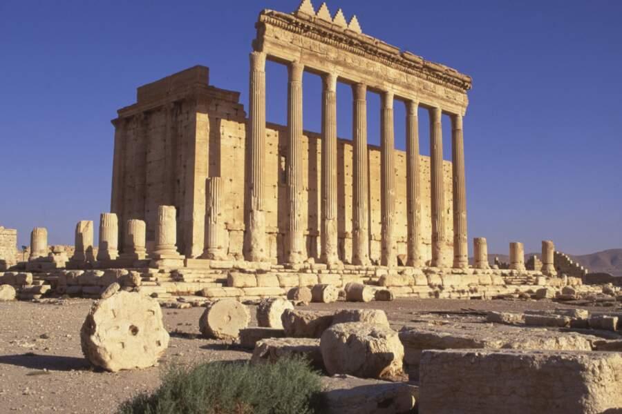 Le temple de Bêl dans la cité antique de Palmyre