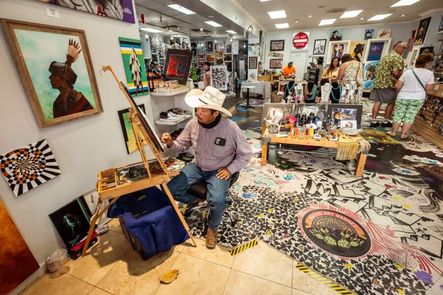 Un peintre navajo de talent