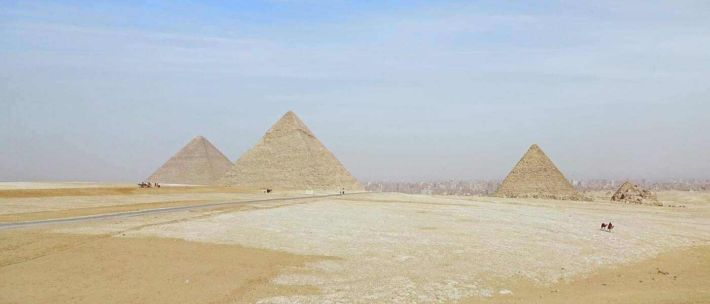 La pyramide de Khéops (Egypte)