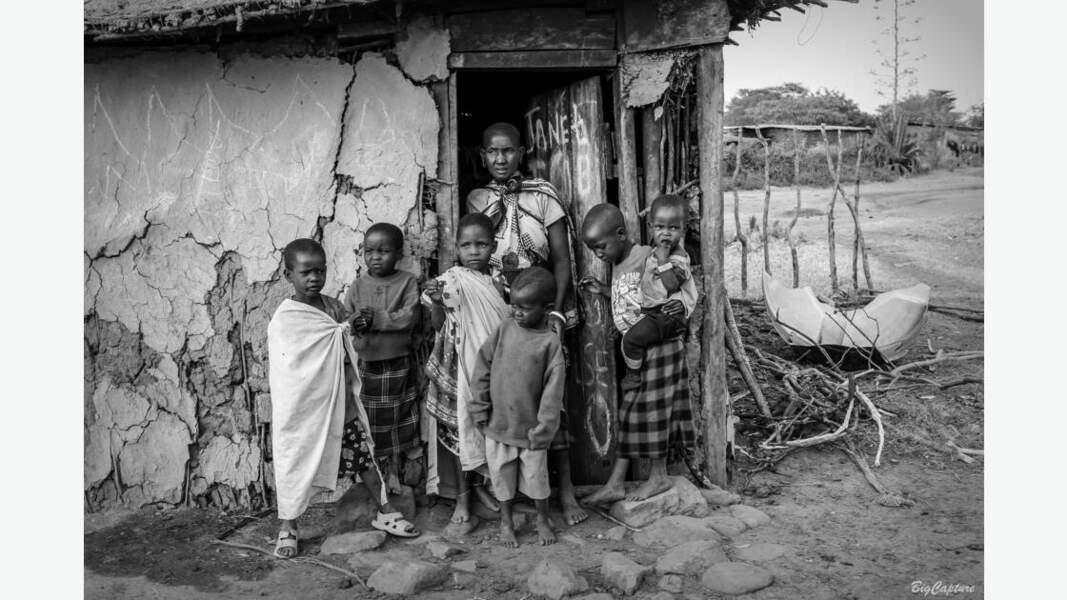 Portrait d'une famille Maasaï